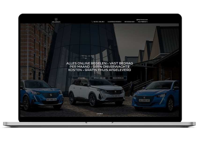 Private lease website Peugeot